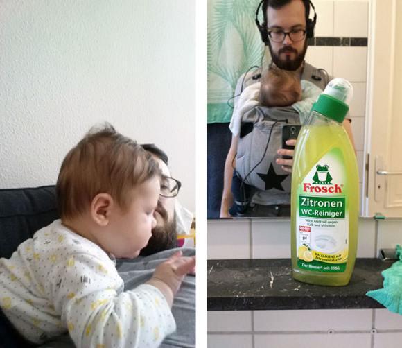 Auf und an Papa