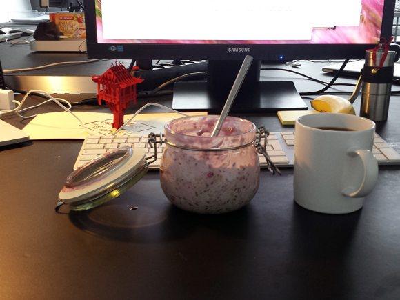 Frühstück mit Pagode