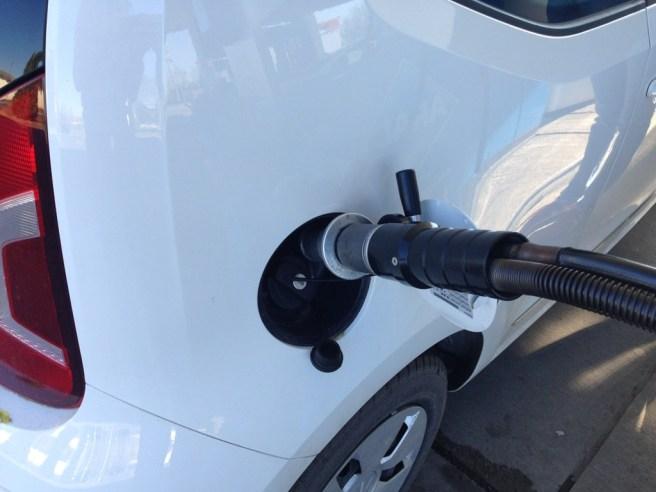 Beim Tankvorgang