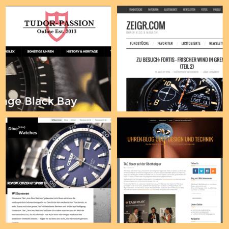 Uhrenblogs - gerade mal eine Handvoll kann überzeugen.