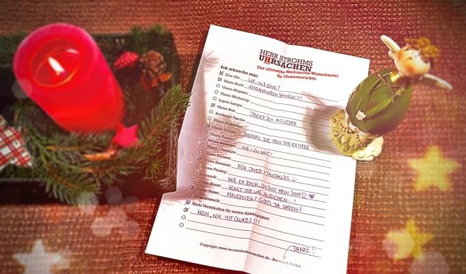 Die ultimative Weihnachtswunschliste für Uhrenliebhaber und ihre Angehörigen.