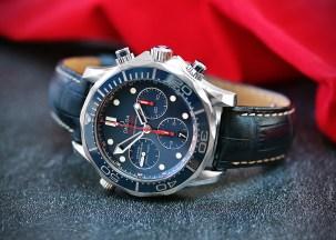 Omega Seamaster 300 Chrono blau 2