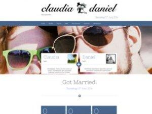 Screenshot unserer Startseite die damals via herrundfraubayer.de erreichbar war.