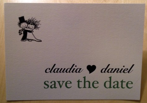 Vorderseite des Save the Date. ©HerrundFrauBayer