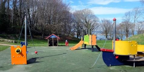 Der Spielplatz eignet sich super für Kleinkinder.©HerrundFrauBayer