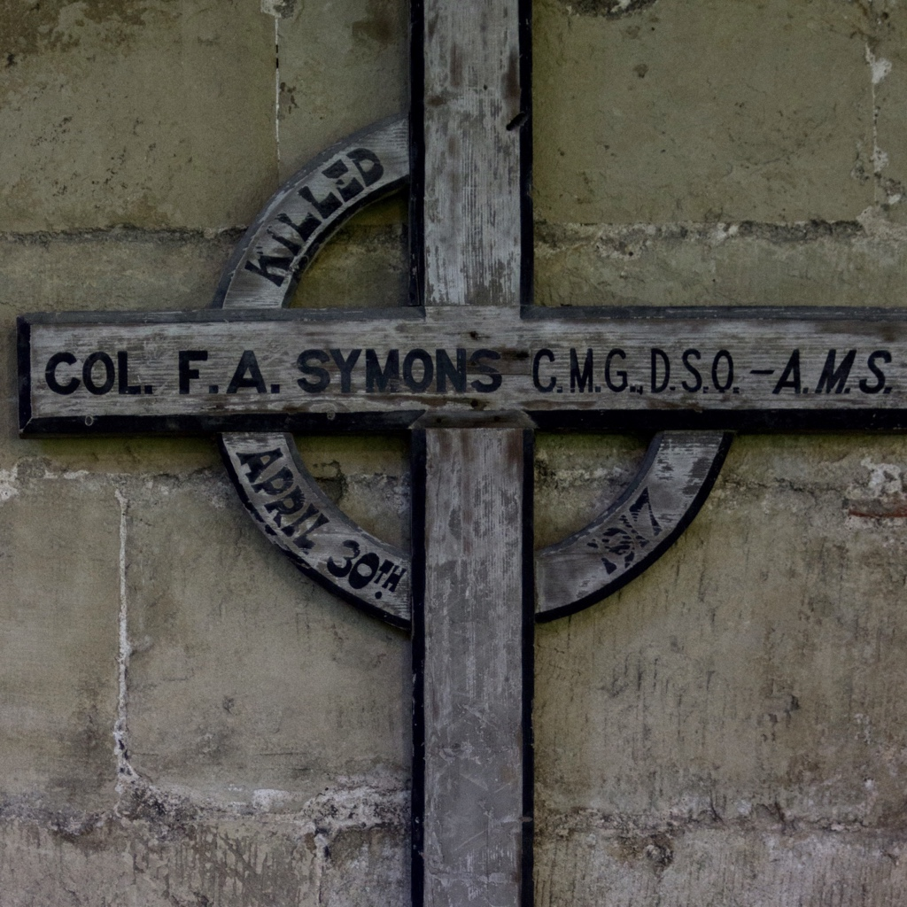 The Frank Symons Memorial in the cathedral cloisters