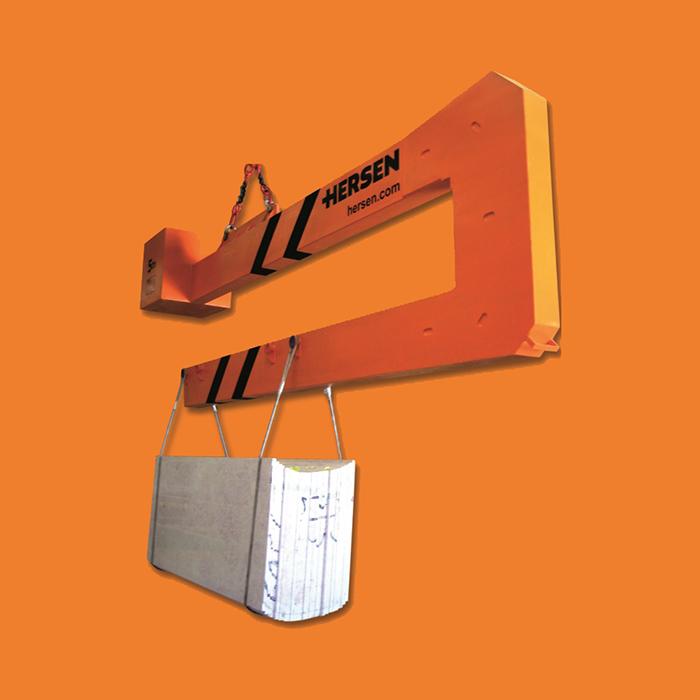 brazo de carga y descarga de tablas Hersen contenedores cerrados
