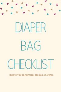 Diaper Bag Checklist title photo