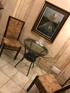 Sitting Area in Taj Mahal room at Anniversary Room
