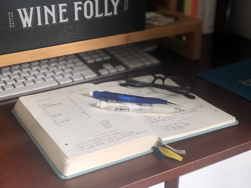 James' planner. My planner and time blocks give me much-needed boundaries.
