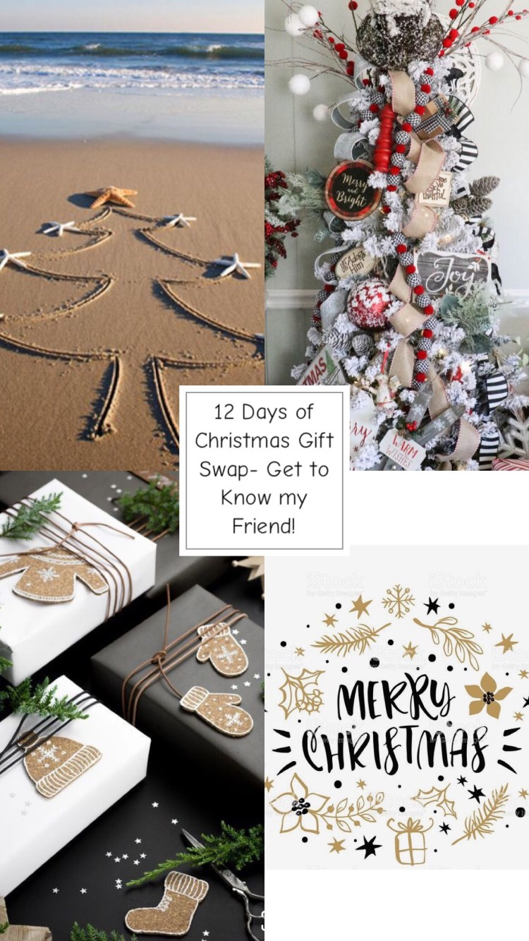 12 Days of Christmas Gift Swap Friendship Tag