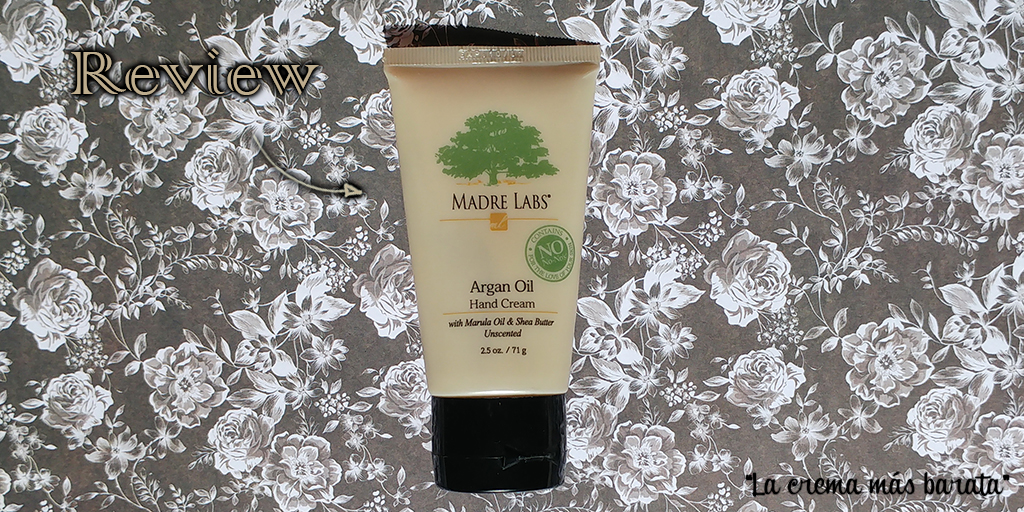 Review crema de manos aceite de argán Madre Labs