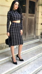 Windowpane Check Two Piece Outfit - Rupika Chopra