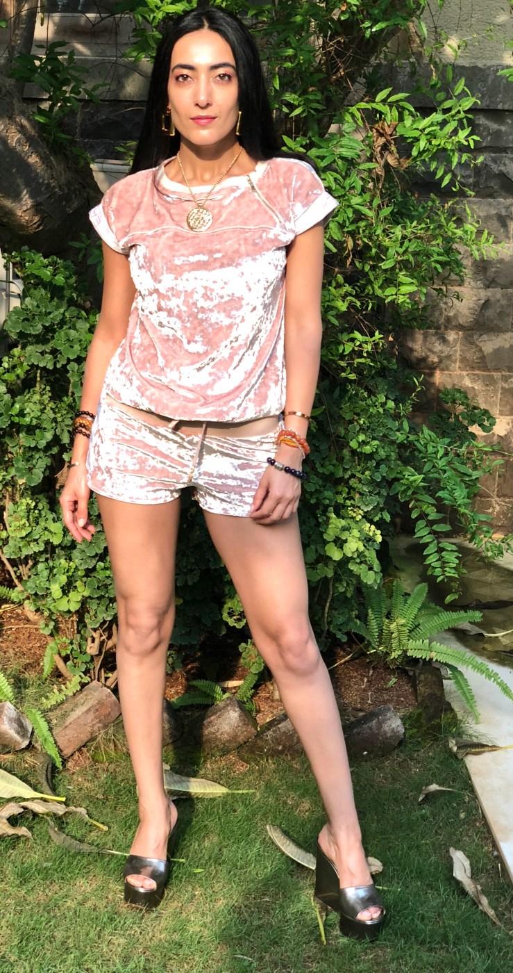 Pink Velvet Co -ords - Rupika Chopra