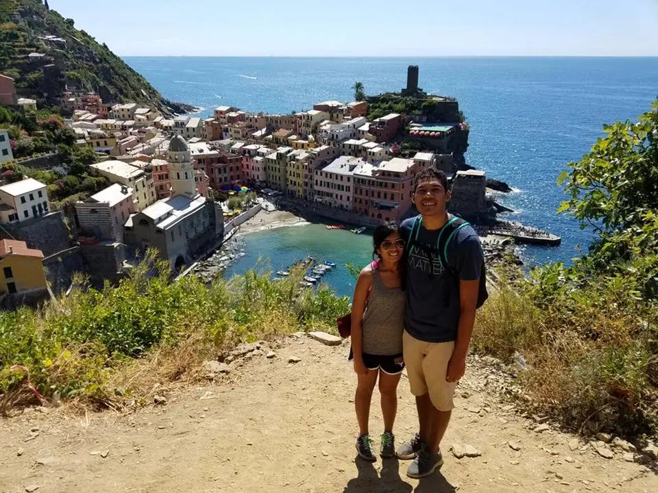 With Vernazza in the background