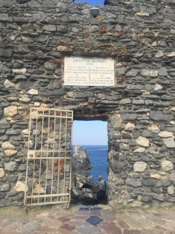 Entrance to the grotto