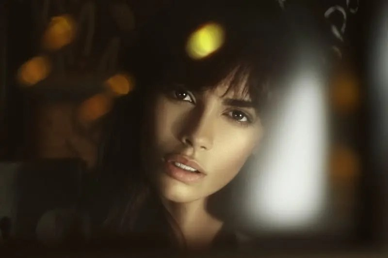 close up photo of woman