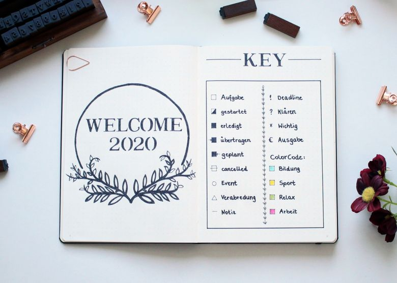 Bullet Journal Key 2020