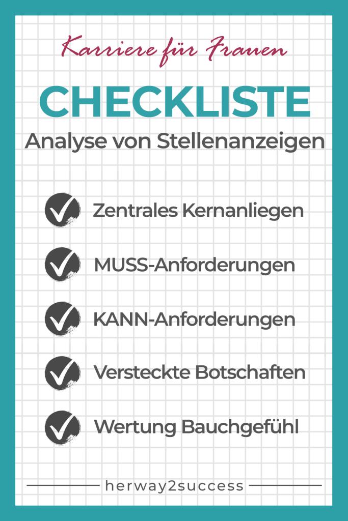 Analyse von Stellenanzeigen - So machst du es richtig - Checkliste