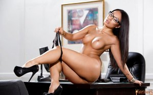 Dreamy and ravishing boss Asa removes her panties to get naughty at her office.