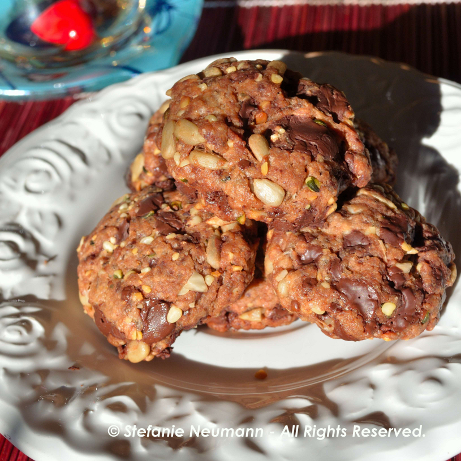 Vegane Energie-Schoko-Kekse