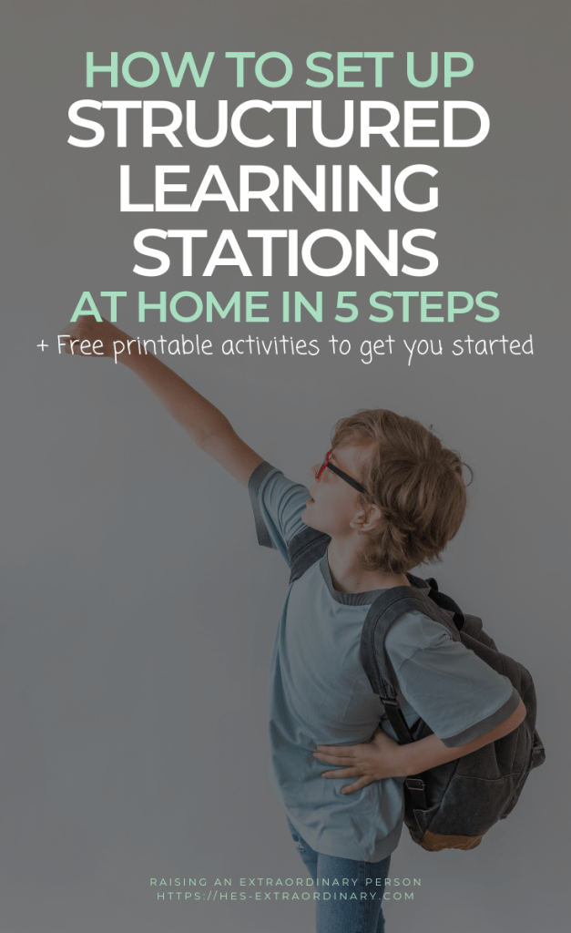 How to set up structured learning stations at home // Workstations based on TEACCH Program for children with special needs. #Autism #TEACCH #SpecialEducation #PreschoolAtHome #Homeschool #ADHDKids #ChildhoodDevelopment