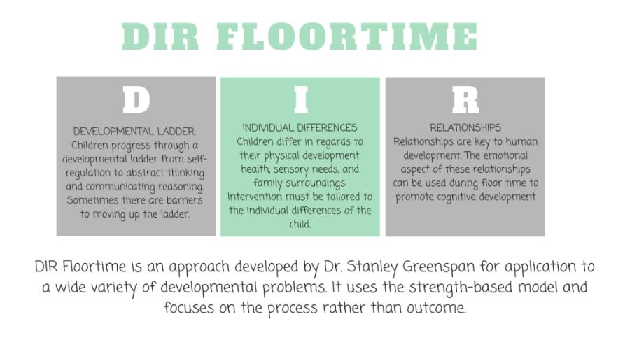DIR Floortime developed by Dr Stanley Greenspan