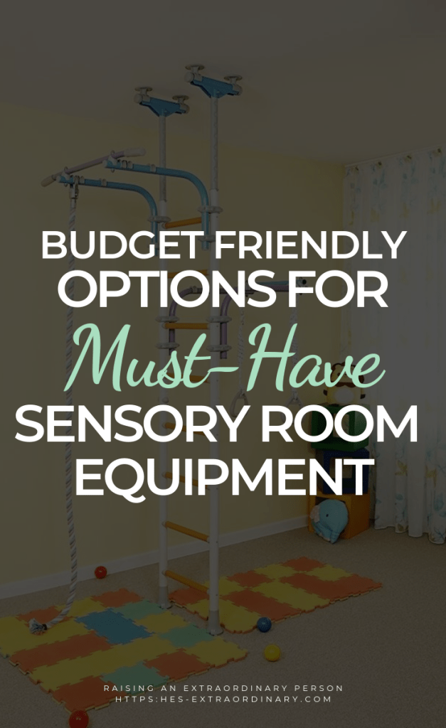 Budget-friendly options for must have sensory room equipment . Create your own active sensory room for your child for sensory play and to burn off their excess energy. // #SensoryPlay #MotorSkills #SensoryProcessing #SPD #SensoryActivities #SPD #Autism #ADHDKids #ADHDActivities #AutismActivities