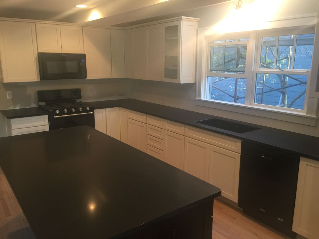 Absolute Black Honed Granite Countertops For Kitchen Island