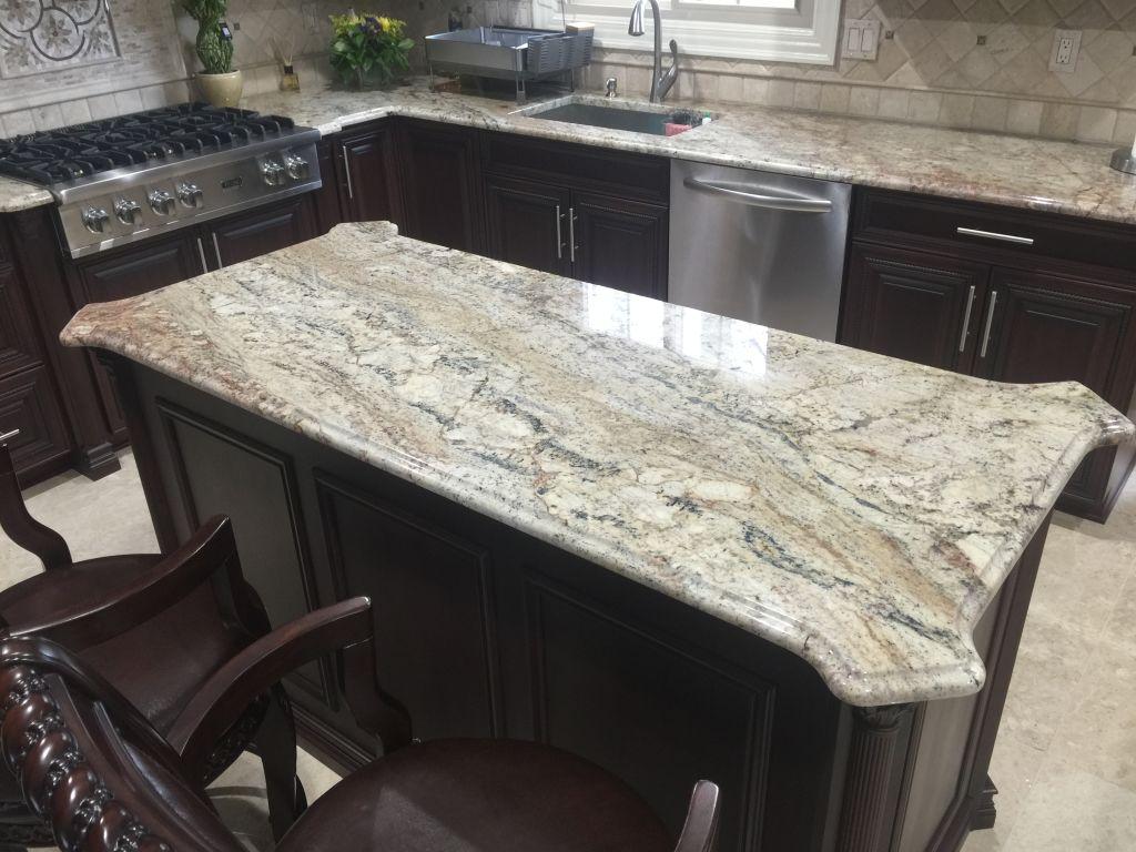 Colonial Cream Granite Kitchen Gallery