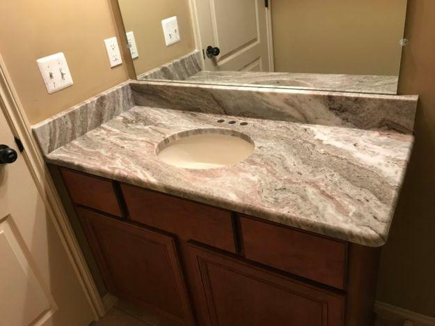 brown fantasy bathroom vanity top - hesano brothers