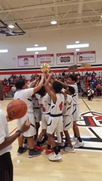 Boys basketball group shot
