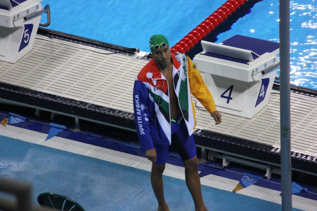 Chad Le Clos focused for 100m butterfly heats