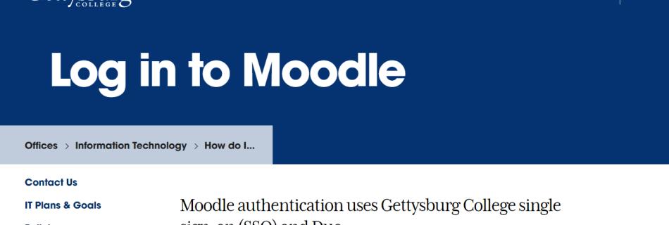 Moodle Gettysburg