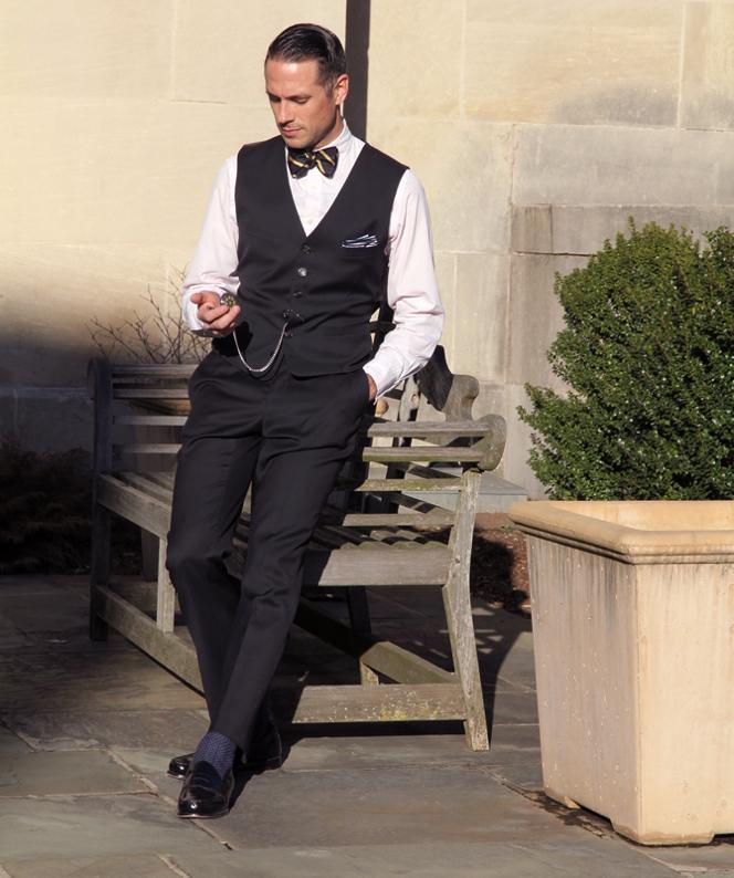 Black Three Piece Suit - He Spoke Style