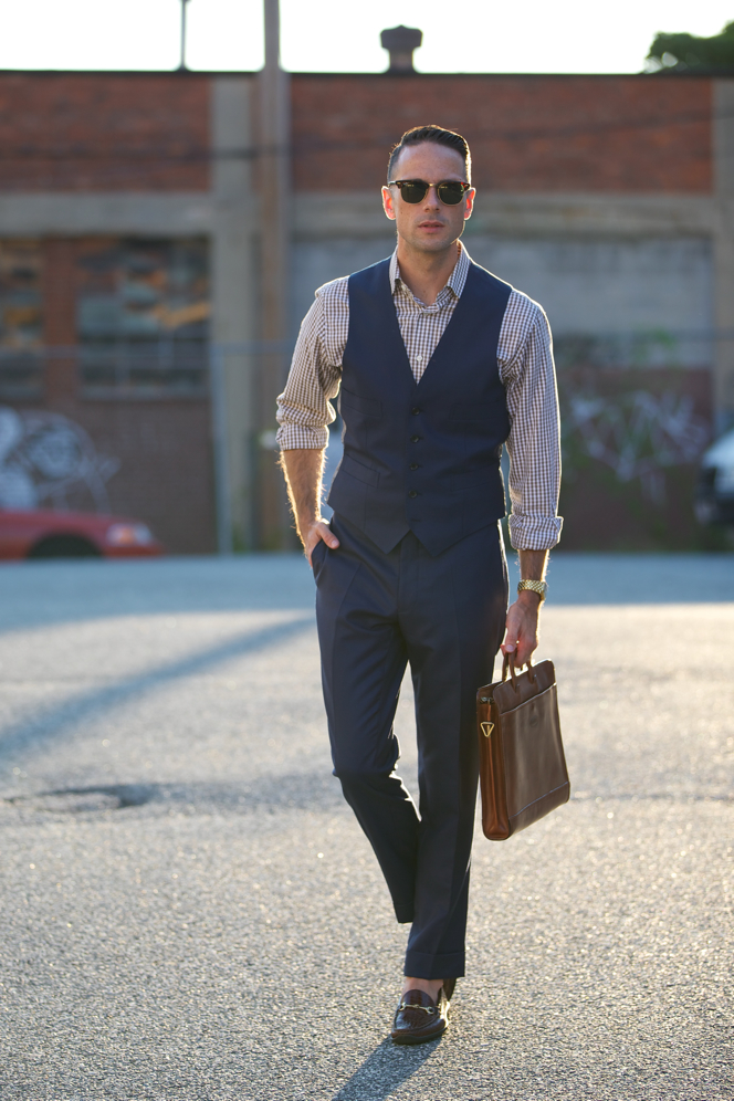 Blue Suit Waistcoat and Trousers - He Spoke Style