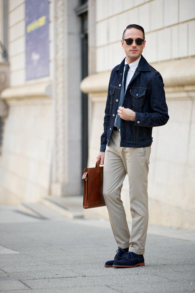 Navy Suit Brown Suede Shoes Women