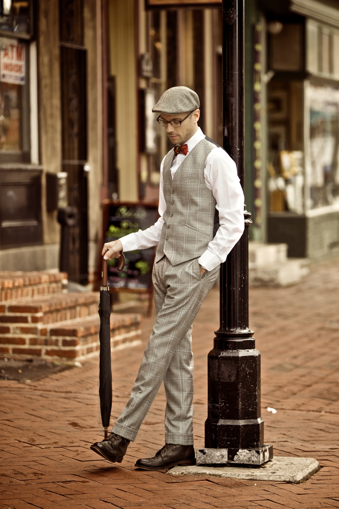 Grey Plaid Suit Waistcoat and Trousers - He Spoke Style