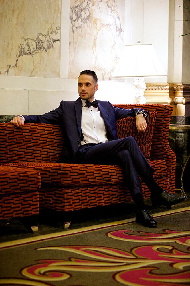 Blue Suit, Black Tie - He Spoke Style