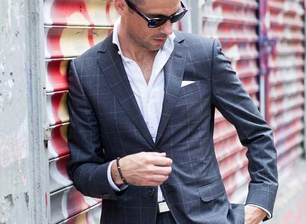 Gray Windowpane Suit - He Spoke Style