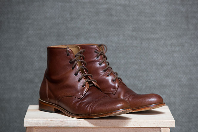 Best Fall Boots for Men Brown Leather Cap Toe Lace Up - He Spoke Style