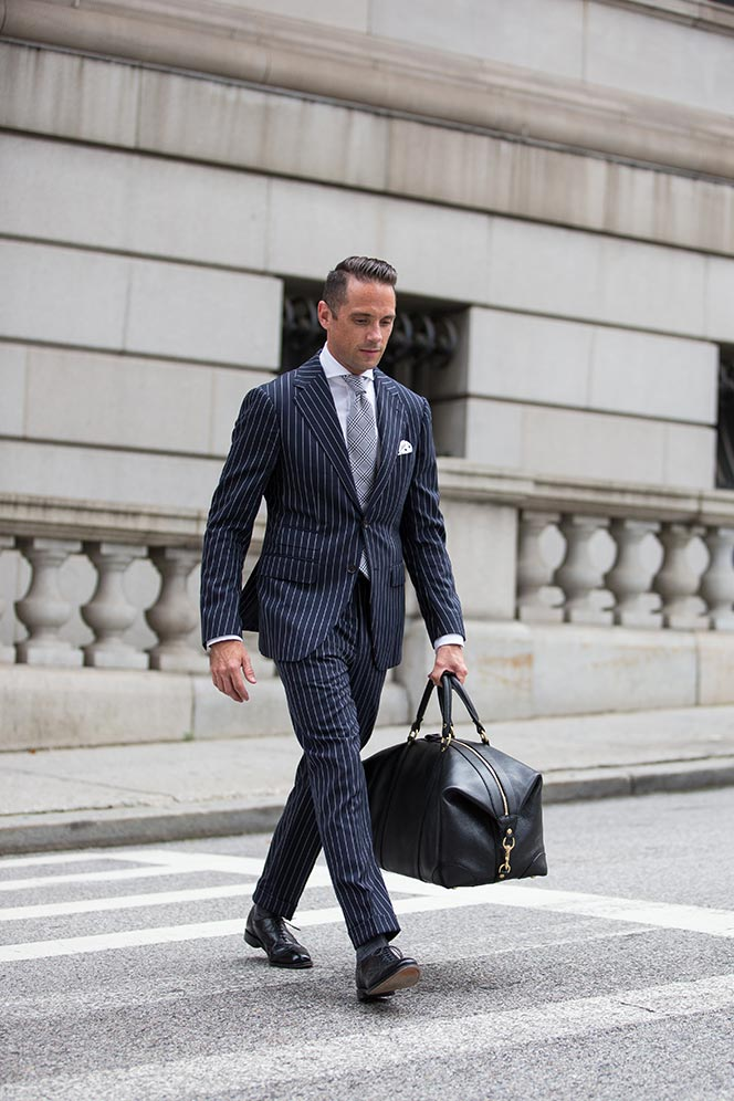 history of pinstripes pattern