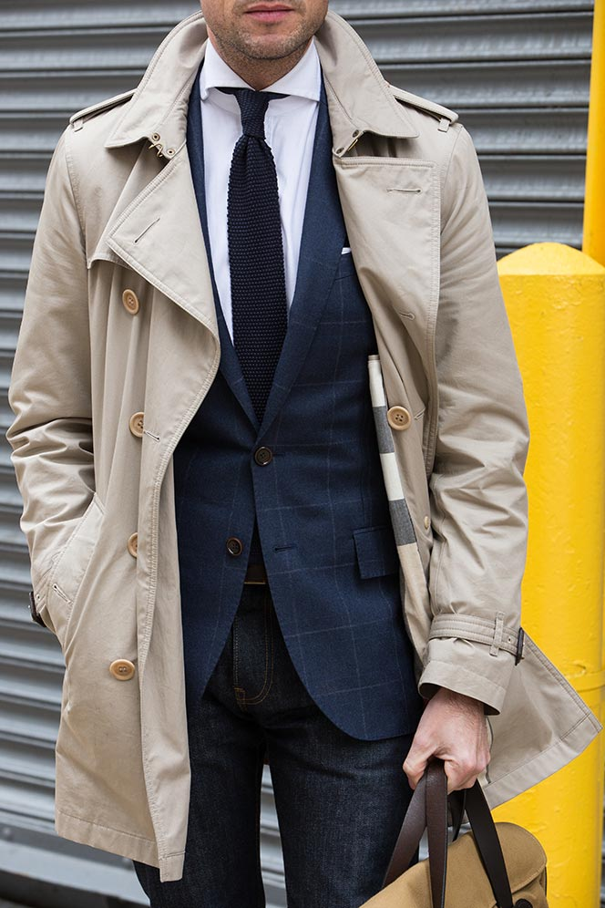 burberry trench with jeans