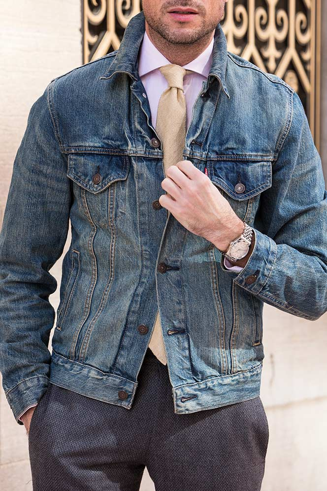 mens denim jacket levi blazer