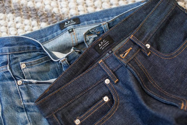 selvedge denim jeans before after