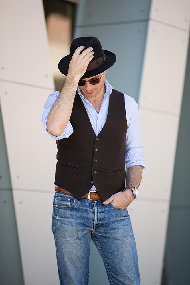 vest with jeans look men