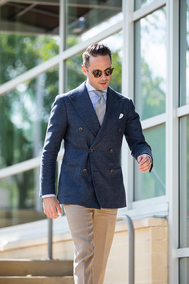 linen double breasted blazer pants trousers