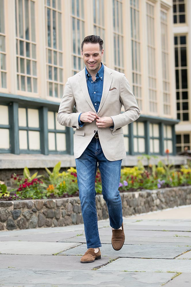 happy hour attire with jeans men