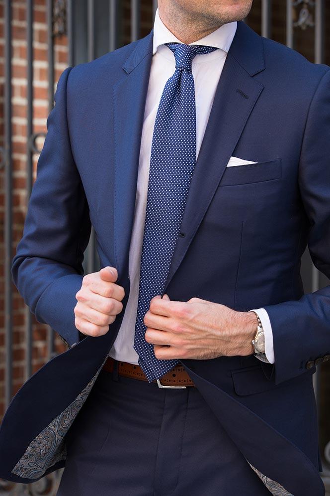 Blazer tie color navy The Best