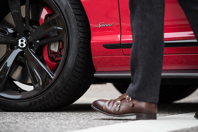 2017-bentley-continental-gt-speed-black-edition-st-james-red-tire-bespoke-brake-calipers-walking-double-monk-strap-shoes
